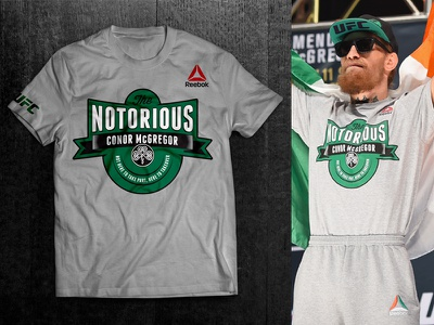 Conor McGregor Branded Tee and new conor mcgregor notorious whiskey champion reebok ufc