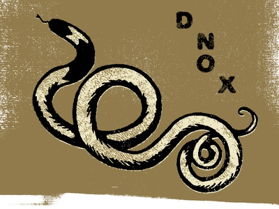 Snake Experiment type sharpie texture experiment cream gold black screenprint snake