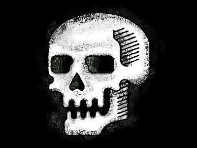 Skull Doodle warm up doodle texture halloween skull