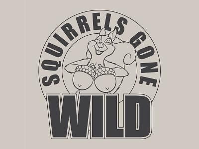 Squirrels Gone Wild apparel shirt design photoshop illustrator illustration design squirrel