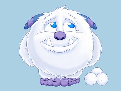 AdoraBall Snowman character design monster cute adorable snowman winter abominable abominable snowman yeti apparel photoshop illustrator illustration shirt design
