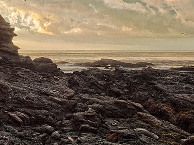 Rocky Shore photography digital photography landscape fine art post-production