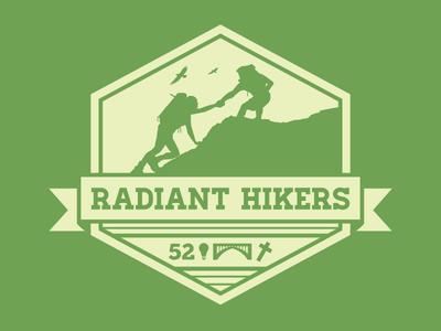 Radiant Hikers logo design shirt design branding