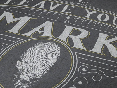 Leave Your Mark marketing church banding hand lettering typography logo design