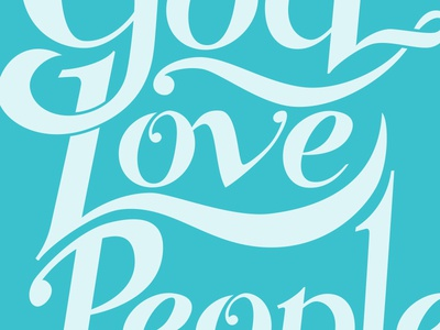 Love God Love People Shirt typography illustrator shirt design apparel hand lettering