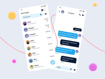 Elegant Messenger App ui design app application message app chat app message messenger app mobile uiux uidesign chat app design