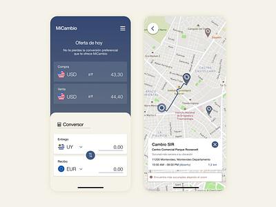 MiCambio App minimal app ux ui design