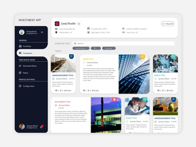 Information Platform App Design flat ux design app ui