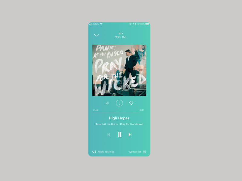 Music Player app ux design ui