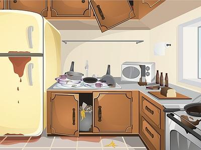 Big Kitchen Ideas - Online Kitchen Shopping Store branding vector illustration kitchens kitchen kitchenware big kitchen ideas
