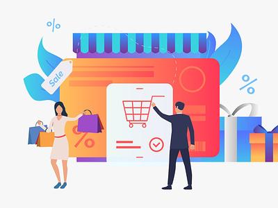WooCommerce Vs Shopify : Which one is better? design wpoven branding vector illustration woocommerce vs shopify shopify or woocommerce