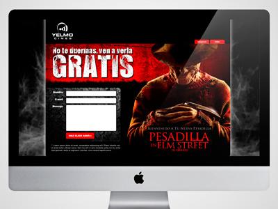 Landing Page (Cines Yelmo) landing page web