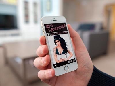 Amy Winehouse (web mobile) web mobile web amy winehouse