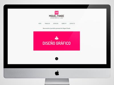 www.miguelpande.com diseño web desing web portfolio online miguel pande miguelpande