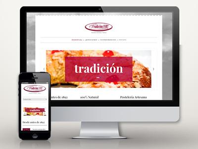 Web: Pastelería Tradición 1892 web responsive cms desing wordpress