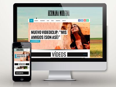 www.hermanamorfina.com miguel pande pande miguel wordpress rock and roll rock desing hermana morfina web