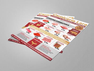 Flyer Carnicería | Butcher Flyer carnicería carne butcher meat shop