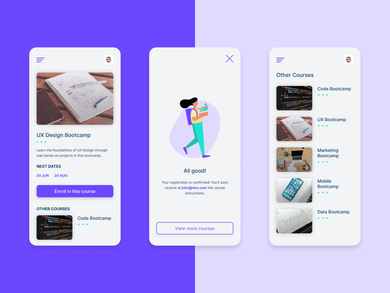 Sign Up - Daily UI 001 education design figma sign up dailyui