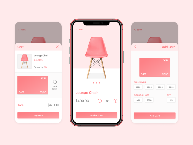 Credit Card Checkout - Daily UI 002 checkout form e-commerce e-commerce app payments modern design checkout page checkout uidesign pink app ui design ui form design mobile app design mobile app credit card dailyui 002 design dailyui