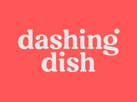 Dashing Dish lettering custom type slab serifs welness health cooking food logodesign logotype