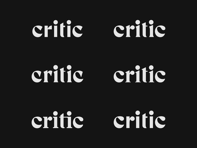 Critic Serif Study restaurant rating review foodie logo application app technology tech food logotype wordmark typography lettering