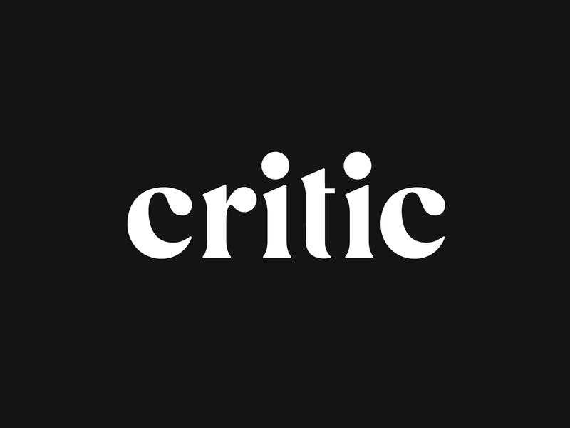 Critic Wordmark restaurant typography tech food custom type lettering logotype wordmark