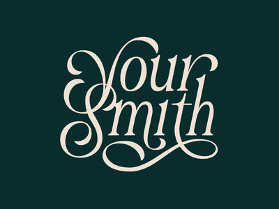 Your Smith Lettering custom type typography logo typography art typography design music handlettering lettering typography
