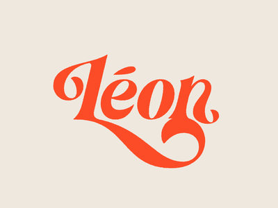 Léon Lettering type design music artist music retro serif script vintage type typography hand lettering lettering