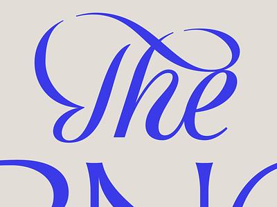 The Script cursive type typography wordmark logotype lettering script