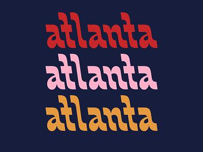 Backslanta hand lettering atlanta funky retro type vintage typography logotype lettering