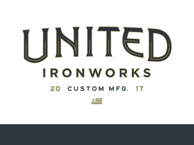 United Ironworks Update flag vintage custom manufacturing iron metal united logotype