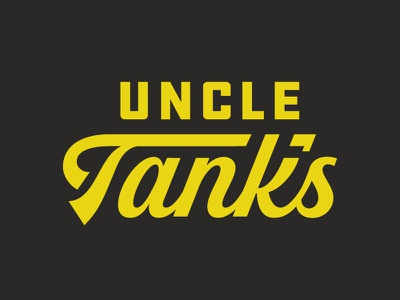 Uncle Tank's Rejected thick logotype type tank uncle