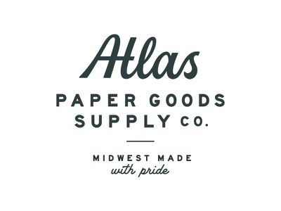 Atlas Redux pt. 1 goods supply midwest custom type type lettering logotype script paper