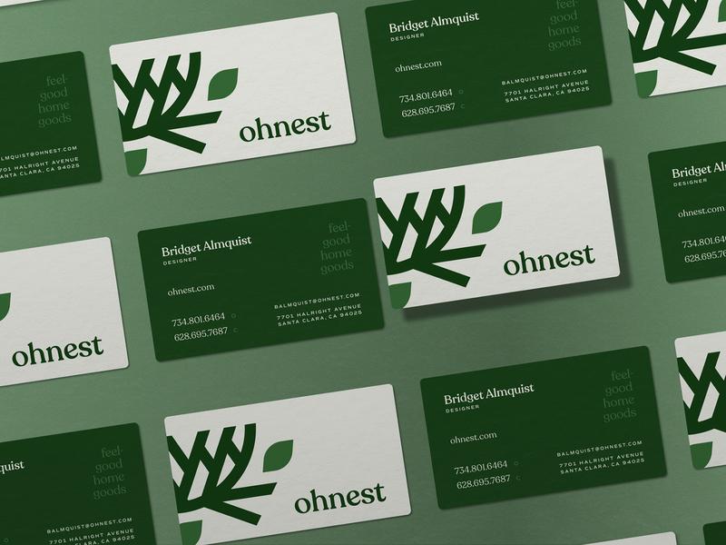 Ohnest Business Card business card leaf goods home home goods nest