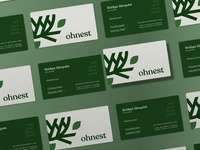 Ohnest Business Card