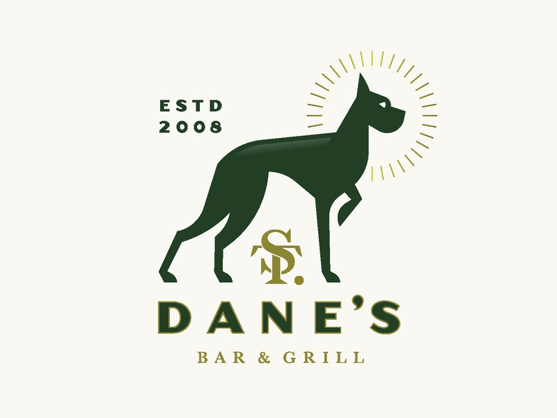 Saint Dane's logo monogram great dane saint dog grill bar