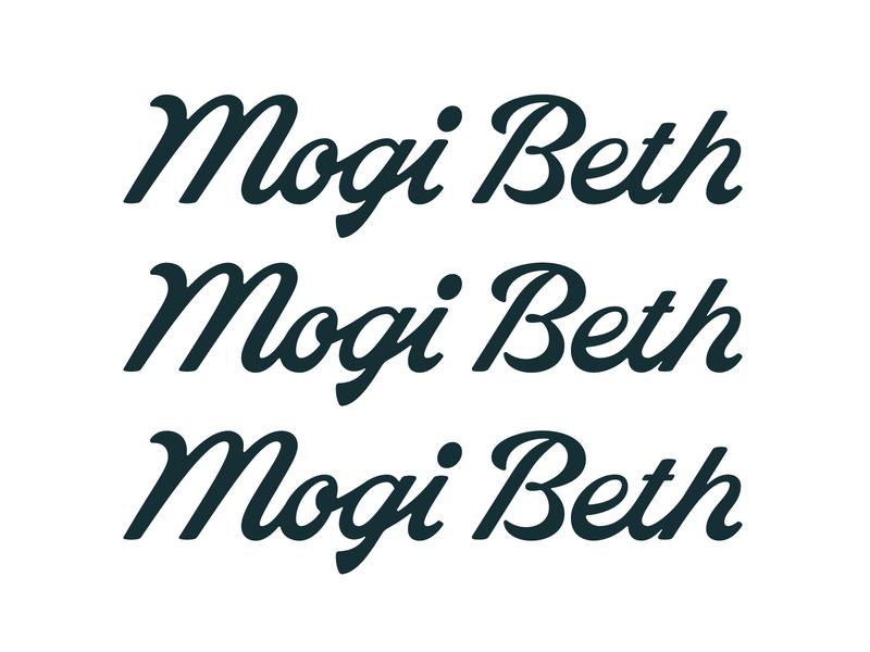 Mogi Beth Outtake #1 logotype signature branding fashion retro vintage logo lettering typography