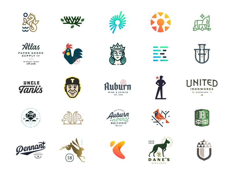 LogoLounge Selections identity typography badge custom type lettering type branding logo logotype
