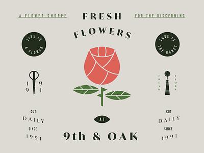 Fresh Flowers local flower shop garden shears boutique rose flower