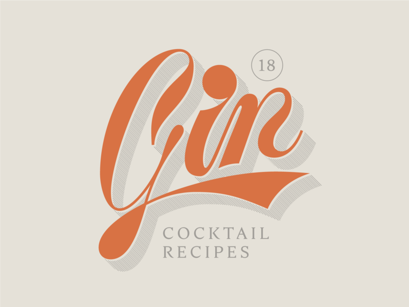 Gin Lettering liquor script typography type lettering vintage alcohol cocktail gin