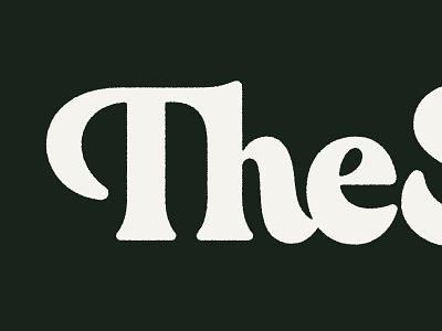 The Shed serif logo type typography recording studio retro vintage logotype lettering