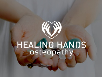Healing Hands Osteopathy Logo health heart hands massage osteopathy healing healthcare logo design