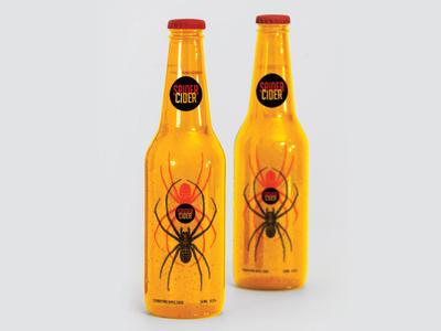 Spider Cider Label beer cider spider logo bottle label