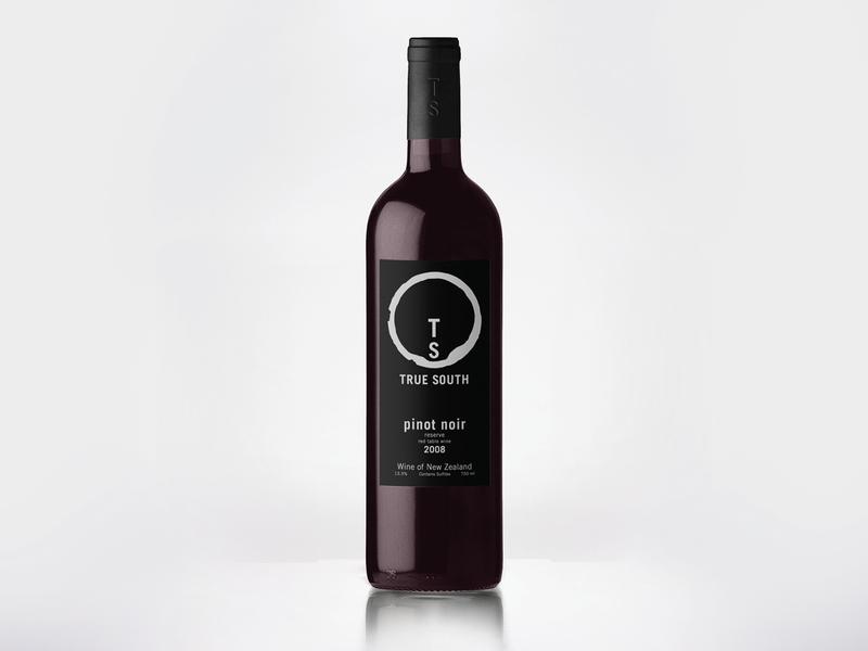 True South Wine Label wine bottle drink ring wine label winery compass bottle wine label logo