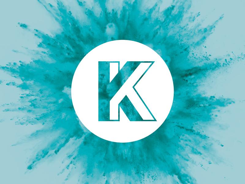 Kablam Logo k lettermark monogram logo branding monogram logo