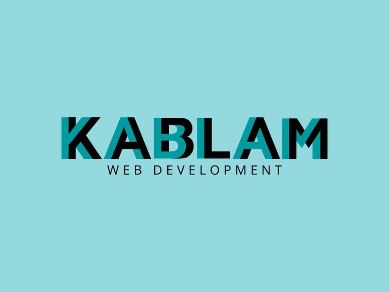 Kablam Logo logotype design typography lettering logotype logo