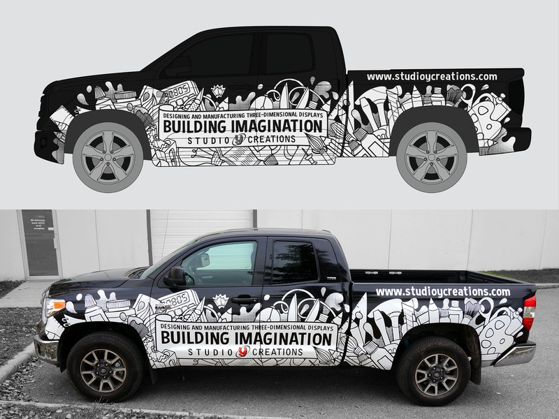 Truck Wrap design illustration art supplies vehicle graphics car graphics car wrap vehicle wrap truck wrap