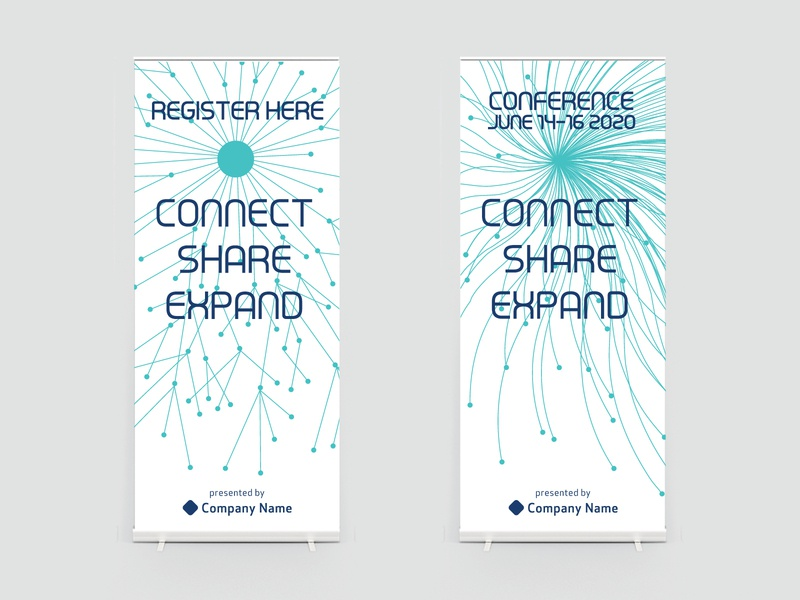 Conference Pop Up Banners connection data corporate netowrking tradeshow booth pop up banner popup tradeshow trade show