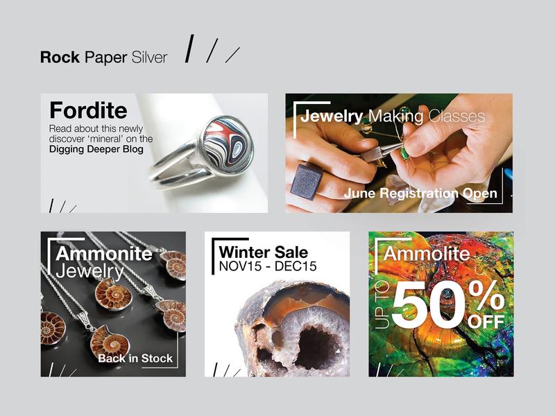 Rock Paper Silver Social Post Templates advertising branding design template instagram post facebook post social media
