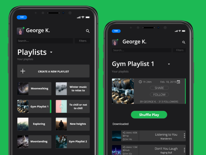 Spotify Reimagined cards ui mobile design mobile app music app spotify ux ui design ui